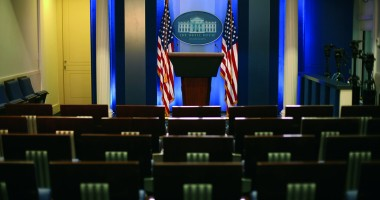 FIGUERAS The White House press briefing room. Photo Ken Cedeno